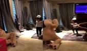 بالفيديو.. رد فعل صادم لطفلة رأت دمية دب تتحرك أمامها