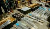 """"""" الحزام الأمني """" يضبط كميات من الأسلحة والذخيرة الحوثية بالضالع"""