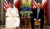 """تناقضات أمير قطر تنكشف في حضرة """" ترامب """""""