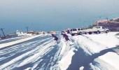 بالفيديو والصور.. البرد يزيد النماص جمالًا