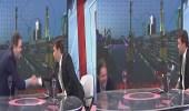 بالفيديو.. سقوط مروع لإعلامي على الهواء