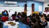 بالفيديو.. طلاب يبكون لحظة وداع معلمهم في أبها