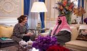 ولي العهد ومديرة اليونسكو يستعرضان المبادرات السعودية في الجانب الثقافي