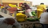حملة أمنية تضبط عدد من المخالفين في سوق الخضار بالمزاحمية