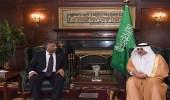 أمير تبوك يلتقي قنصل جنوب أفريقيا