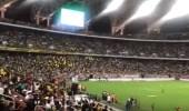 بالفيديو.. الجماهير تتفاعل مع الأغاني الوطنية قبل انطلاق نهائي الكأس