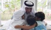 صورة تجمع الشيخ خليفة بن زايد بـ3 أطفال