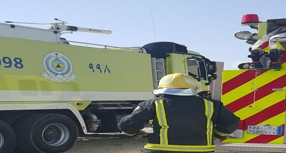 بالصور.. التماس كهربائي بتمديدات المكيف يسبب حريق بمنزل