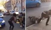 بالفيديو.. فتاة تسحل أخرى في الشارع بطريقة مروعة