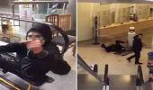 بالفيديو.. سقوط مروع لشاب يستعرض مهاراته في التزلق على سلم كهربائي