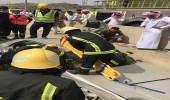 بالصور.. مدني الباحة ينقذ شاب من ذوي الهمم انحرفت مركبته