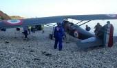 بالفيديو.. هبوط إضطراري لطائرة على شاطئ