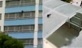 بالفيديو.. لحظة انتحار مراهق بالقفز من شرفة مستشفى