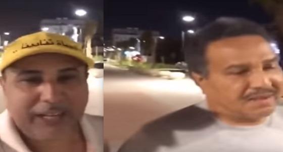 """بالفيديو.. فنان العرب و """" العرفج """" يمارسان رياضة المشي"""