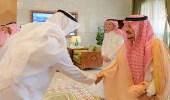 بالصور.. أمير الرياض يستقبل منسوبي الإمارة