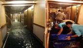 بالفيديو.. ركاب يرصدون سفينة تغرق بالمياه على طريقة تيتانيك