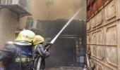 بالصور.. الدفاع المدني يخمد حريق هائل في جدة