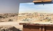 هنا صحراء الظهران.. فنانة تشكيلة تختار المملكة لتحول رمالها إلى لوحات