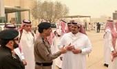 نائب أمير الرياض يزور أماكن سقوط شظايا الصاروخين الباليستيين