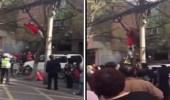 بالفيديو.. لحظة إنقاذ فتاة حاولت شنق نفسها أعلى شجرة