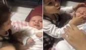 بالفيديو.. طفلة تصفع شقيقها الرضيع بطريقة مروعة