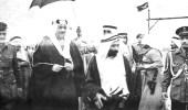 """صور نادرة توثق مظاهر احتفال أهالي """" عنك """" بزيارة الملك سعود"""