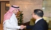 المشرف على مكتب أمير الرياض يستقبل المستشار السياسي بسفارة اليابان لدى المملكة