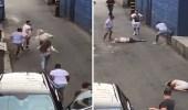 بالفيديو.. شباب يسحلون 3 فتيات في الشارع بطريقة مروعة