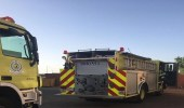 """فرق الإطفاء تخمد حريقا اندلع في """" صحي الصلحانية """" بمهد الذهب"""