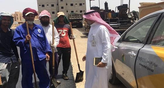 ضبط 27 مخالفة لقرار العمل تحت أشعة الشمس بالمدينة المنورة