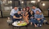 إليسا برفقة عدد من المشاهير في سهرة ليلية