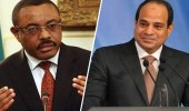 الرئيس المصري يلتقي رئيس الوزراء الإثيوبي