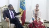 بالصور.. في أغرب لقاء دبلوماسي..رئيس وزراء إثيوبيا يستقبل صوفيا