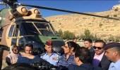 """بالصور.. أحلام تنتقل لـ """" البتراء """" على متن طائرة عسكرية.. والأردنيون يتذمرون"""