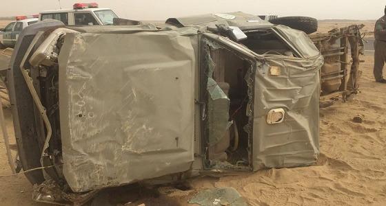 منهم جندي بحرس الحدود.. وفاة 4 أشخاص في حادث مرور بجازان