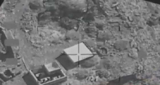 بالفيديو.. مشاهد حية لاستهداف التحالف منظومة الاتصالات الحوثية