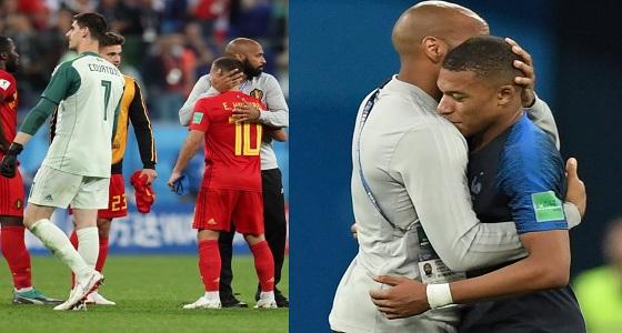 بالفيديو..بعد تأهل فرنسا وخسارة بلجيكا تيري هنري مابين نارين