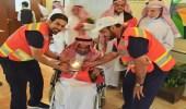 """الهلال الأحمر تزور """" دار المسنين """" بالرياض ضمن برنامج معكم"""