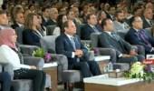 بالصور.. الرئيس السيسي يشارك في مؤتمر الشباب السادس بجامعة القاهرة