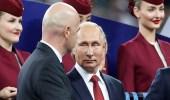 """بالصور.. فرقة موسيقية تقتحم مباراة نهائي المونديال.. و السبب """" بوتين """""""