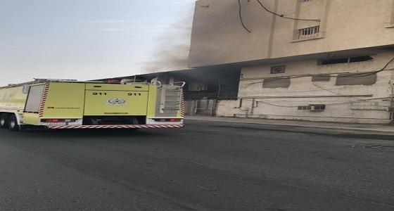 بالفيديو.. إصابة 3 فتيات في حريق داخل مصنع نسائي بمكة
