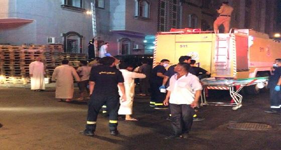 13 إصابة في حريق شقة سكنية بحي الصفا