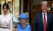""""""" بروش """" يكشف العلاقة الخفية بين الملكة إليزابيث ودونالد ترامب"""
