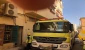 بالصور.. وفاة مقيم من الجنسية الآسيوية إثر حريق في الرس
