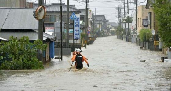ارتفاع ضحايا فيضانات اليابان إلى 126 قتيل وفقدان 80 شخصا