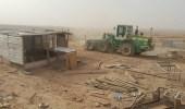 بالصور.. إزالة 37 مخيما و21 حظيرة غنم و7 مكاتب عقار مخالفة للنظام بالحائر