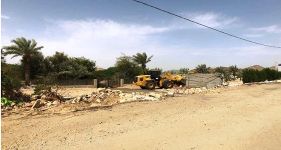 إزالة إحداثات بمنطقة الشميسي ومخطط التخصصي في مكة