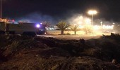 الإطاحة بـ 4 أشخاص لتورطهم في حريق اندلع خلف منتزه بتيماء