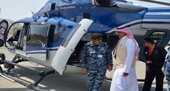 رئيس الهلال الأحمر يزور مسؤولي طيران الأمن والإخلاء الطبي بالعاصمة المقدسة