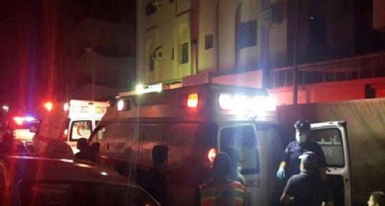 """"""" 7 """" حالات اختناق في حريق شقة سكنية بجدة"""